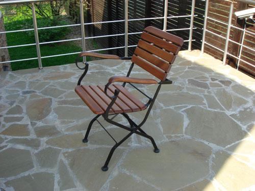 Металлические стулья со спинкой своими руками